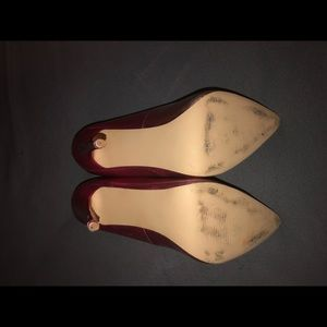 Shoe Dazzle Shoes - Size 12 hot pink and gold ombré heels